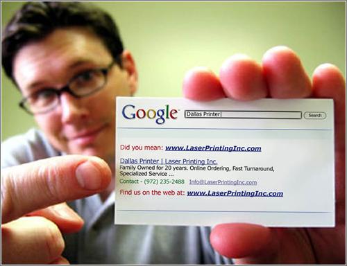 Tarjeta de visita Google-style