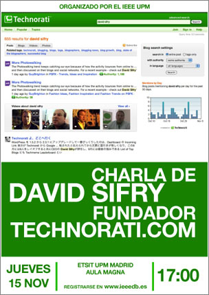 David Sifry de Technorati en Madrid
