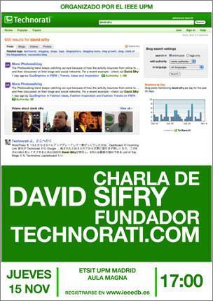 David Sifry de Technorati en Madrid