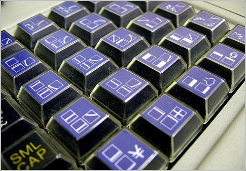 Sharp MZ-80K keyboard (CC) Marcin Wichary @ Flickr