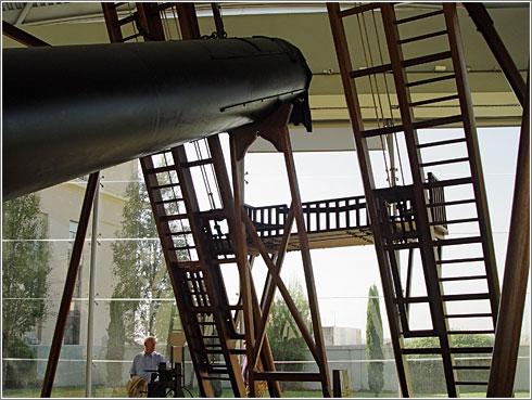 Detalle del telescopio