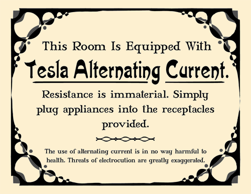 Tesla Alternating Current