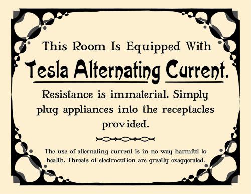 Tesla Alternating Current