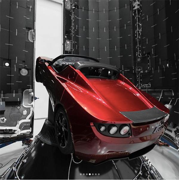 Teslas roadster musk marte 3