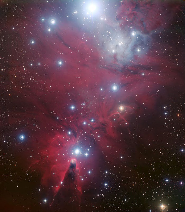 The christmas tree cluster can be seen toward the bottom of this image just look for the big triang