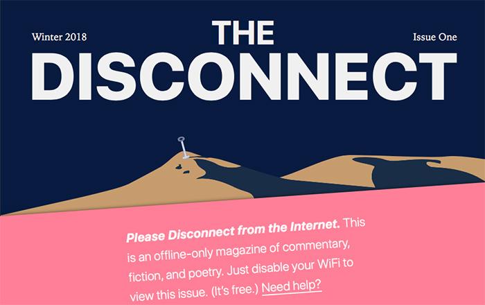 The Disconnect, la revista digital que sólo puedes leer si te desconectas de internet