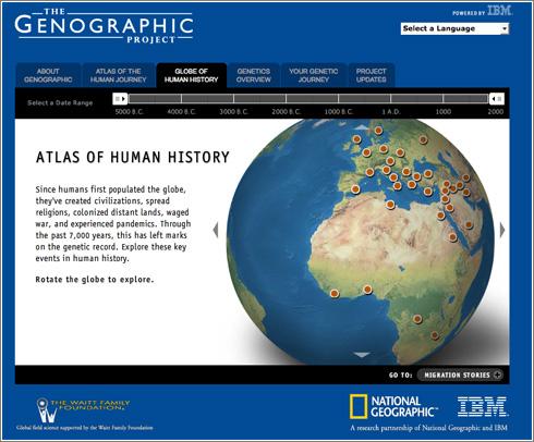 The Genographic Project, ¿de dónde venimos?  Nuestro ADN lo dice