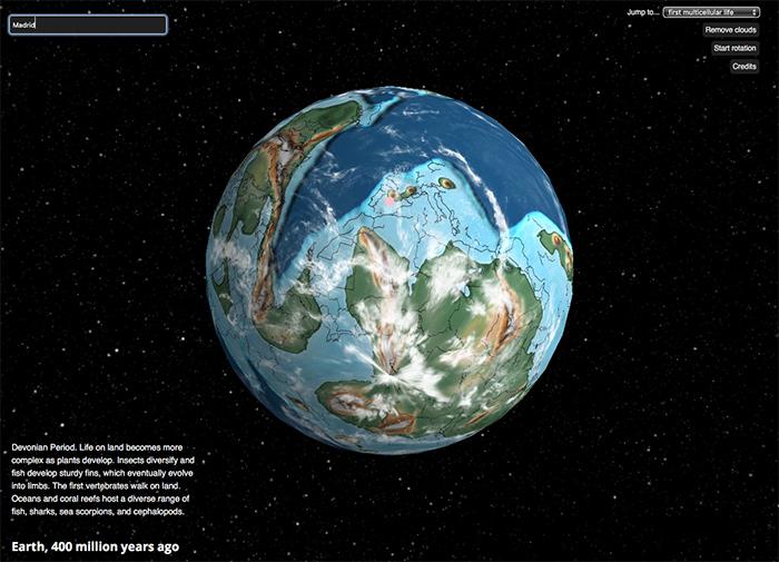Con este interactivo 3D puedes recorrer 750 millones de años de historia de la Tierra