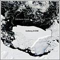 Rotura de un glaciar en la Antártida