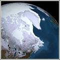 Bonita fotografía de la capa de hielo del Ártico (2008-2009)