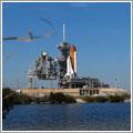 El Discovery listo en la plataforma de lanzamiento