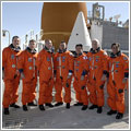 La tripulación tras la simulación de lanzamiento