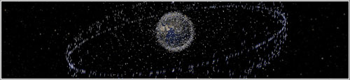 Basura espacial en órbita