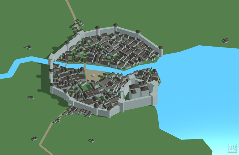 Toy town mapa medieval 3d