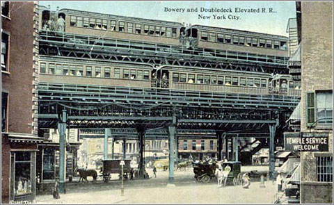 Líneas en Bowery (1878)