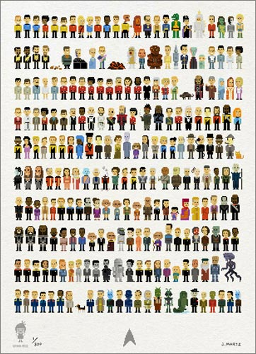 Trexels: Star Trek pixelado