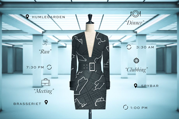 El vestido diseñado y decorado con datos que Google tiene de ti