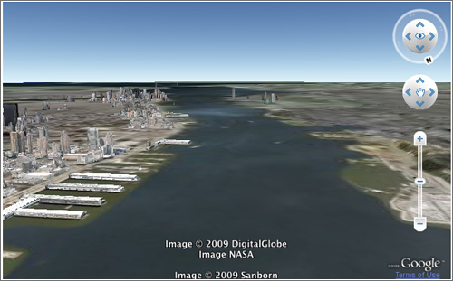 Vuelo 1549 en Google Earth