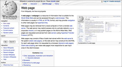 Web-Page-Wikipedia