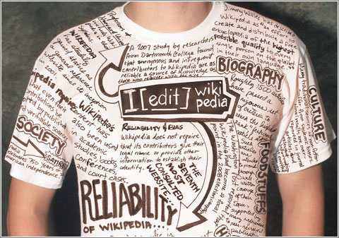 Wikipedia T-Shirt (CC) Mike E. Perez