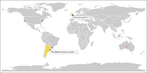 Un mapa en tiempo real de ediciones en la Wikipedia