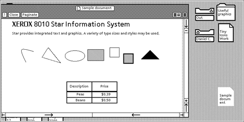 Xerox 8010 Star / Operating System Interface Design Between 1981-2009