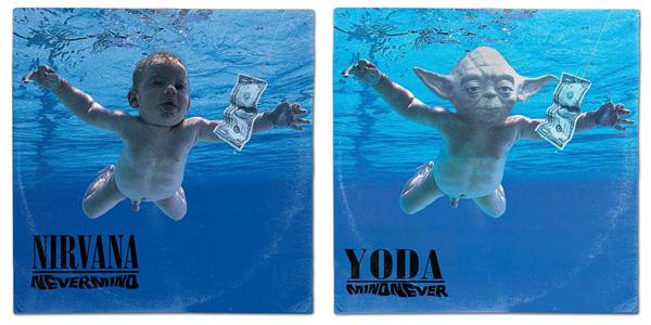 Portadas de discos recreadas con personajes de Star Wars