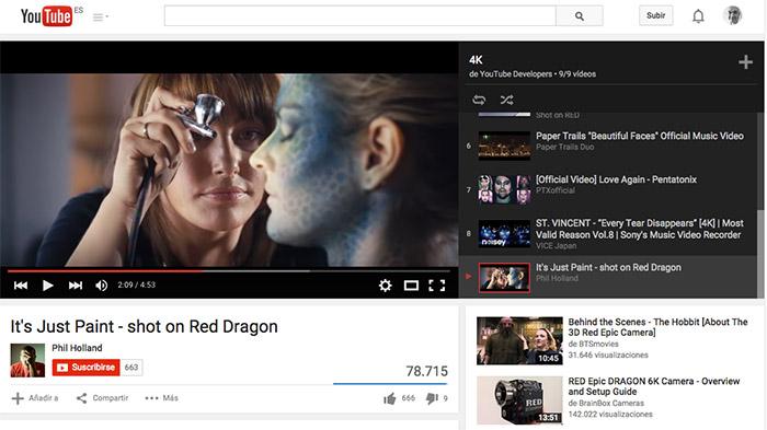YouTube: nuevo reproductor