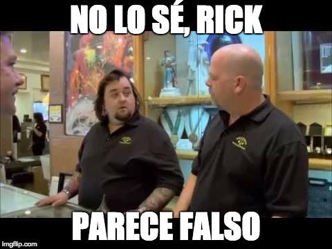 No sé Rick, parece falso