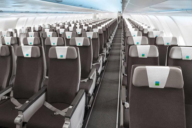 Cabina turista de los A330 de Level