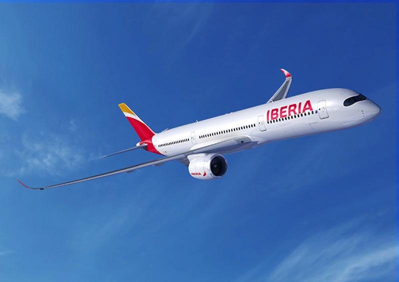 Imagen por ordenador de un A350-900 de Iberia