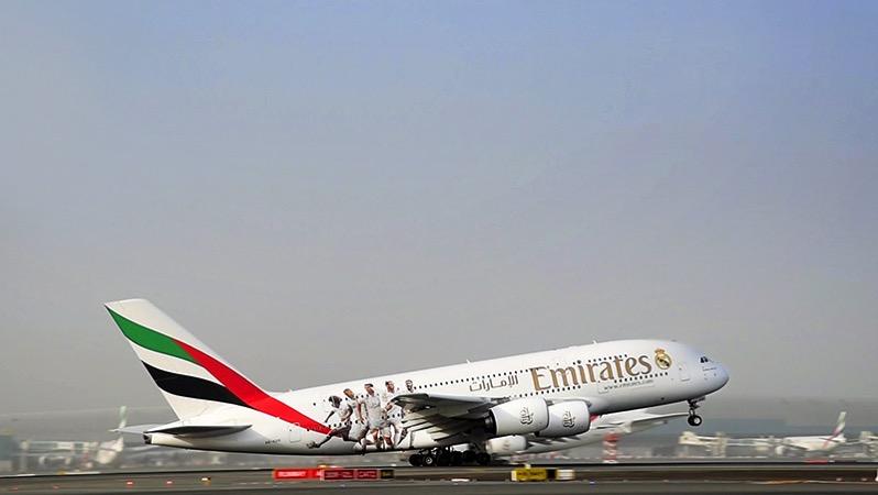 Despegue de A380 Real Madrid
