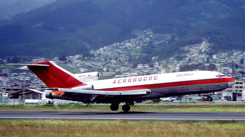 El avión accidentado en una foto de 2002