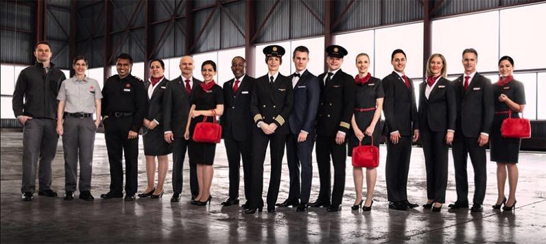 Uniformes de 2017 de Air Canadá