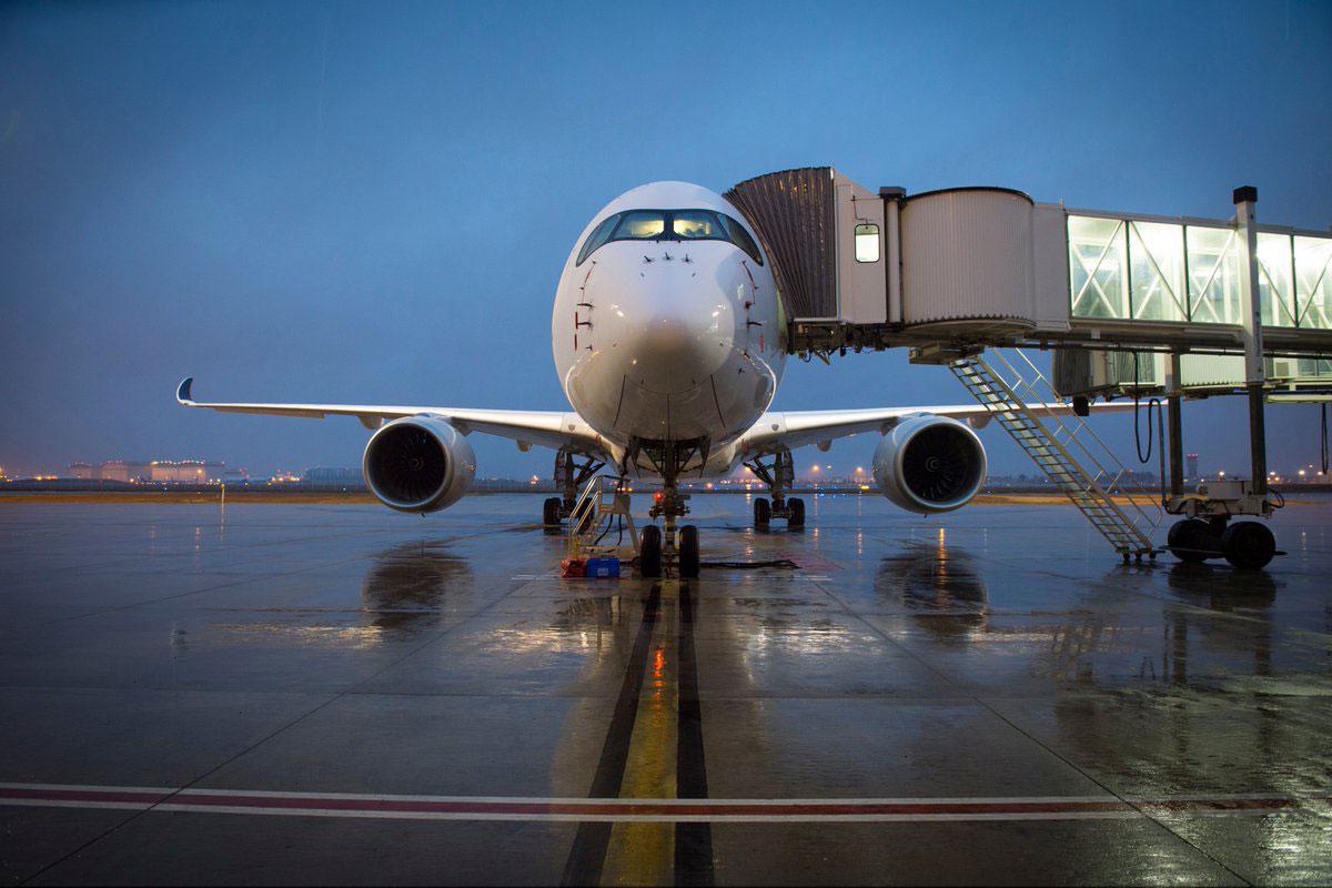 El Airbus número 10000 de frente