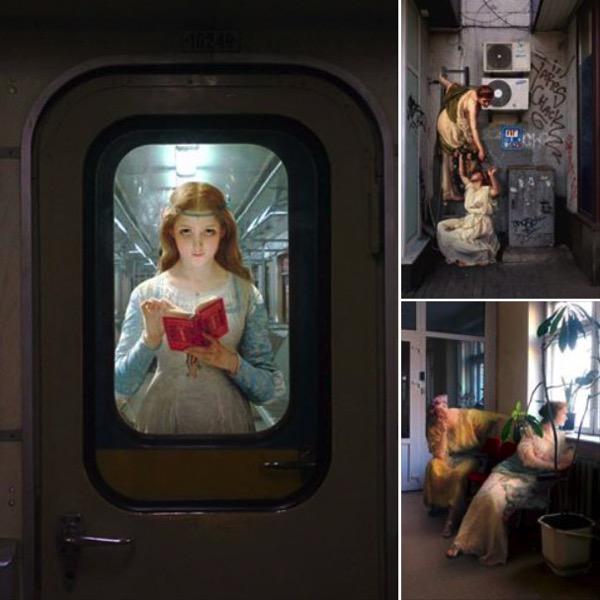 Collage de obras de Alexey Kondakov