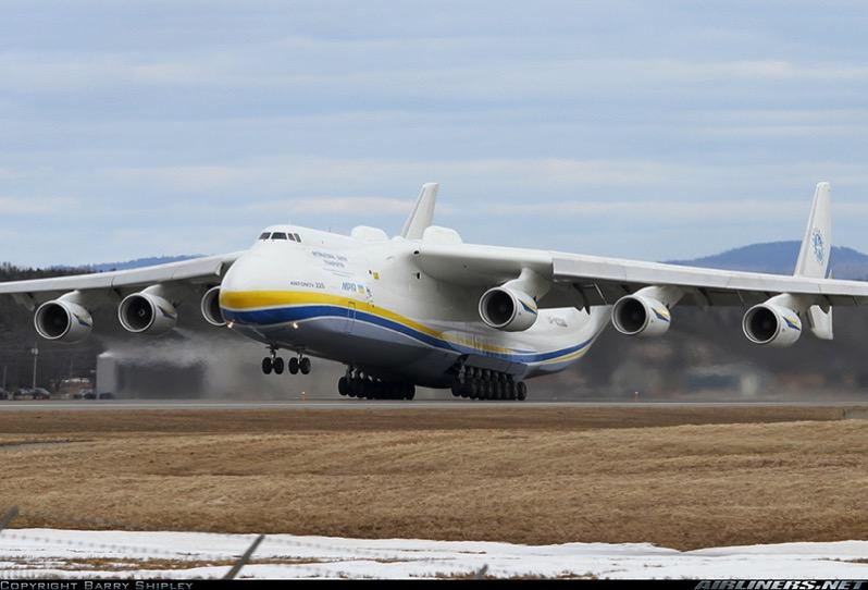 El Antonov An-225 en Bangor