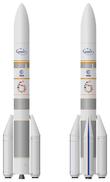 Las dos versiones del Ariane 6