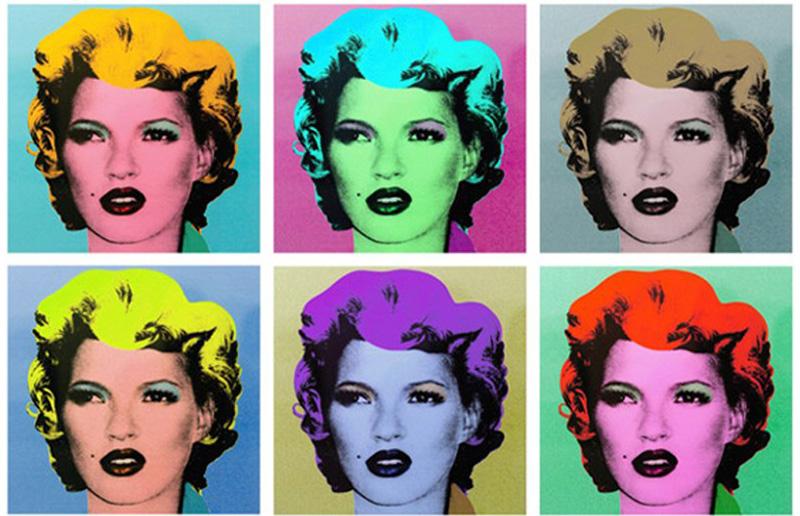 Kate Moss estilo Warhol por Bansky