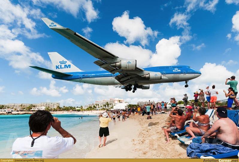 747 de KLM en St. Marteen por José A. Campelo