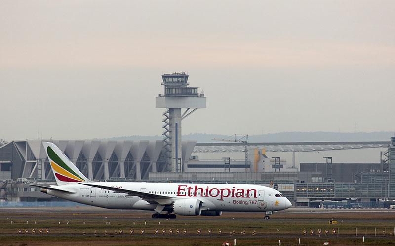 Un Boeing 787 de Ethiopian en Frankfurt