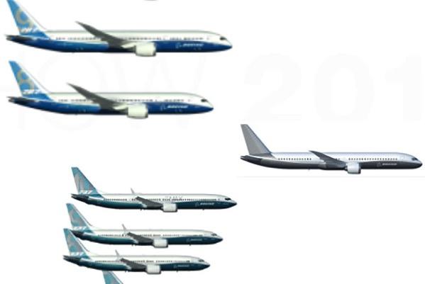 Diapo usada por Boeing en Le Bourget 2017