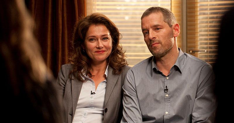 Birgitte y Philip poniendo buena cara en casa