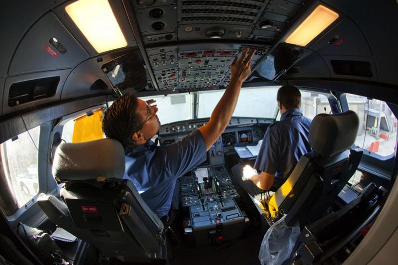 Cabina de un Airbus de JetBlue