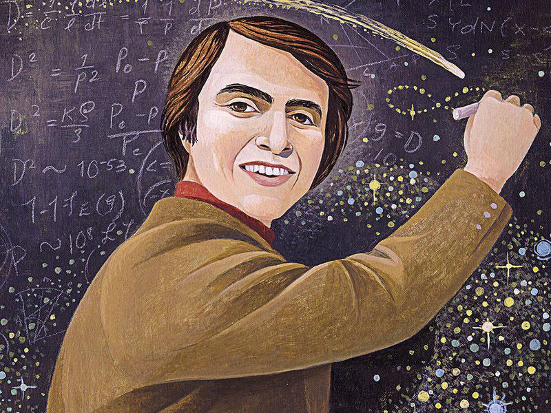 Carl Sagan por Jody Hewgill