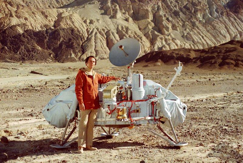 Carl Sagan y el aterrizador Viking