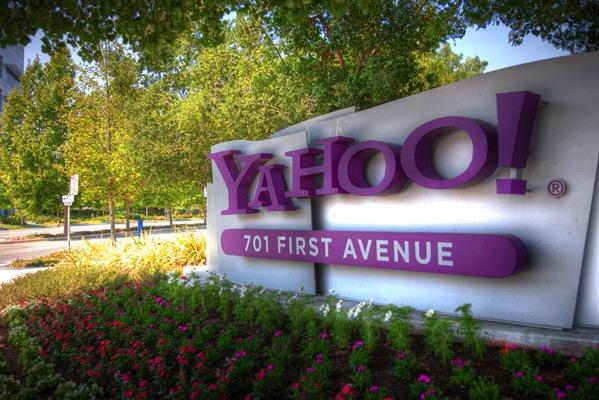 Cartel a las puertas de la central de Yahoo