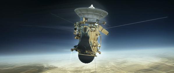 Cassini entrando en la atmósfera de Saturno