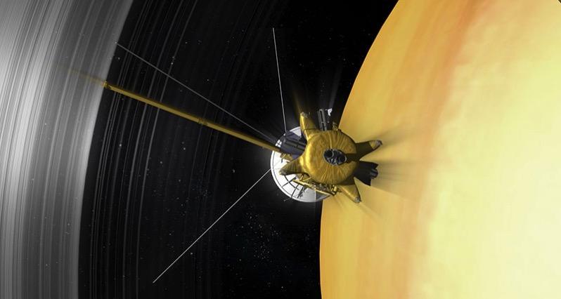 Cassini durante una de sus últimas órbitas