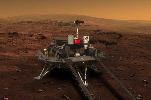 El aterrizador y el rover